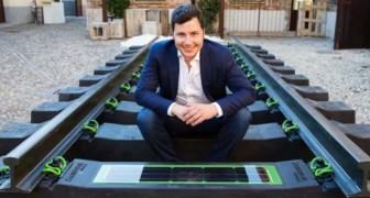 Een Italiaanse ondernemer patenteert de spoorwegen die energie produceren van gerecyclede banden