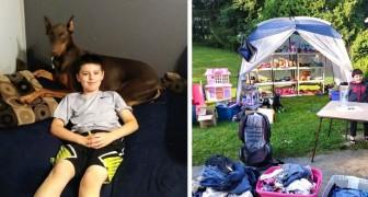 Questo bambino di 10 anni ha venduto tutti i suo giocattoli per pagare una delicata operazione al suo cane