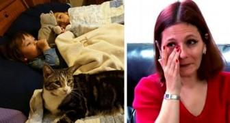 De kat is onrustig en probeert haar naar de kamer van haar dochter te laten gaan: als ze binnenkomt begrijpt ze dat ze onmiddellijk moet handelen
