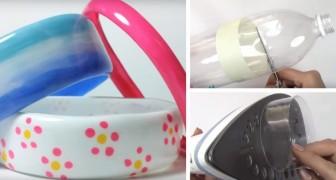 Come creare degli stupendi braccialetti alla moda con una bottiglia di plastica e un ferro da stiro