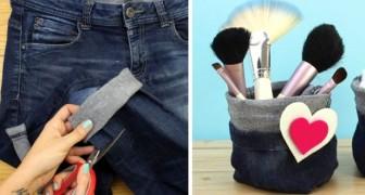 Porta oggetti e svuota tasche ricavati da vecchi jeans: ecco come realizzarli in pochi passi