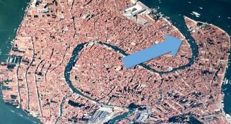 Venetië houdt nooit op te verbazen: van bovenaf gezien heeft het de vorm van een elegante zwaan die zijn vleugels spreidt