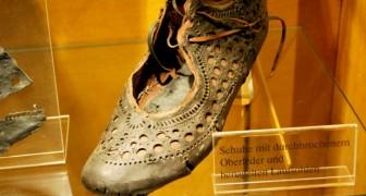 De oude Romeinen liepen 2000 jaar geleden al voor op de damesmode: deze oude schoen is hier het bewijs van
