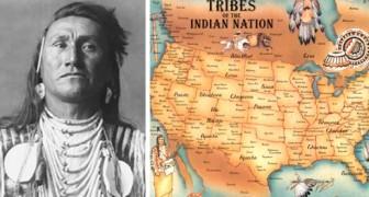 La mappa delle Tribù dei Nativi Americani: un pezzo di storia che non appare MAI sui libri di scuola