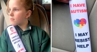 Uma mãe inventa cintos de segurança que indicam aos médicos as doenças das crianças em caso de acidente