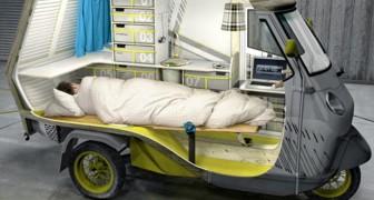 De Piaggio Ape is omgetoverd tot een camper voor fantastische roadtrips: dit is Bufalino