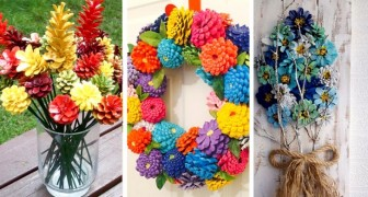 Come trasformare le pigne in coloratissime decorazioni per la tua casa
