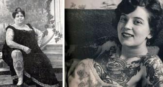 Tattoos in der viktorianischen Ära: Bilder von einigen Frauen, die in ihrer ganzen Pracht dargestellt wurden