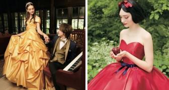 Disney a créé une ligne de robes de mariée inspirées de ses princesses : pour un vrai mariage féerique !