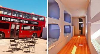 Londra: i celebri autobus rossi diventano rifugi per i senzatetto