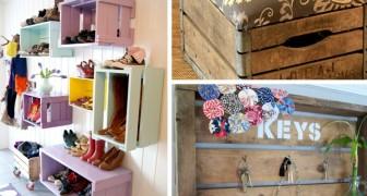 Per un tocco rustico alla vostra casa, riutilizzate le cassette di legno in questi modi geniali!