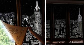 Deze gordijnen maken van jouw ramen een spectaculaire skyline van de beroemdste steden ter wereld