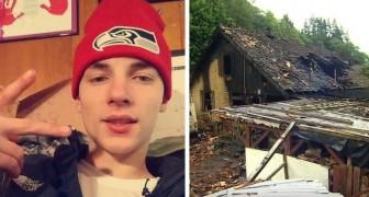 Een jonge oom van 20 begeeft zich in de vlammenzee om zijn nichtje en neefjes te redden