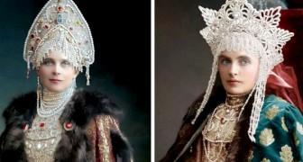 Une artiste a retrouvé et coloré ces vieilles photos des Romanov, les derniers tsars de Russie