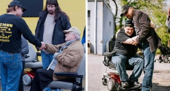 An entrepreneur gives hundreds of electric wheelchairs to the disabled and the elderly! Some had not left their house in years ...