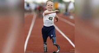 Este menino nasceu sem pernas e com uma doença incurável: hoje corre e treina para as próximas paraolimpíadas