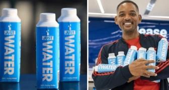 Will Smith combatte lo spreco della plastica lanciando bottiglie d'acqua 100% riciclabili