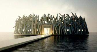 Dieses schwimmende Hotel bietet Ihnen die Möglichkeit, das Nordlicht inmitten der Natur zu genießen
