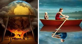 10 surreale Illustrationen, die die dunklen Seiten der zeitgenössischen Gesellschaft enthüllen