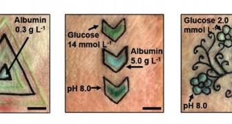 Deze tatoeages veranderen van kleur afhankelijk van de suikerwaarde, het albuminegehalte of de zuurtegraad in het bloed