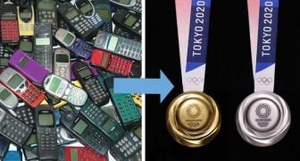 Il Giappone ha trasformato 80mila tonnellate di vecchi cellulari in medaglie per le Olimpiadi di Tokyo 2020