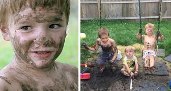 Kinder, die mit Schlamm und Sand spielen, werden gesünder und stärker: Studien bestätigen dies