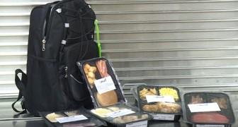 In deze school wordt voedsel dat niet in de mensa wordt geserveerd, verpakt en aan behoeftige leerlingen gegeven
