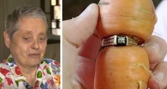Questa donna aveva perso il suo anello di fidanzamento in giardino: dopo 13 anni lo ritrova su una carota