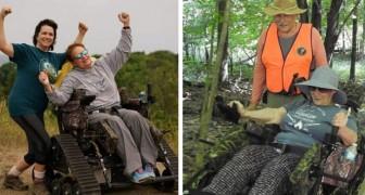 In questo parco i disabili possono sfrecciare su dei fuoristrada per percorrerne i sentieri