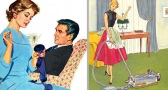 En god hustru säger inte emot sin man De här bilderna visar hur kvinnans roll har förändrats under de senaste 50 åren