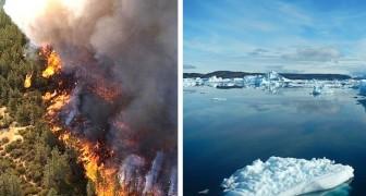 De rook van Siberische branden smelt het ijs op duizenden kilometers afstand