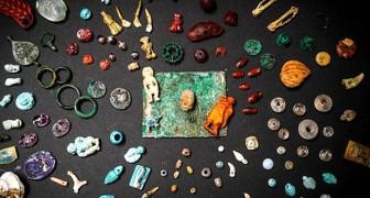 In Pompeii is de schat van de heks aan het licht gekomen, een prachtige verzameling edelstenen en magische voorwerpen