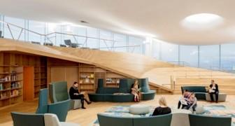Questa biblioteca finlandese aiuta l'ambiente con un'architettura 100% eco-sostenibile