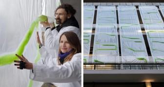 Hier sind die High-Tech-Vorhänge, die die Luft durch Sonnenlicht reinigen