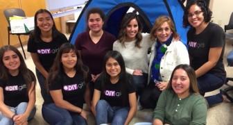 Queste ragazze hanno realizzato una tenda con pannelli solari per aiutare i senzatetto