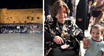 Survivante d'Auschwitz, elle a fêté son 104e anniversaire avec ses 400 descendants
