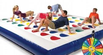 Questo gigantesco Twister gonfiabile metterà alla prova anche chi ha un ottimo equilibrio!