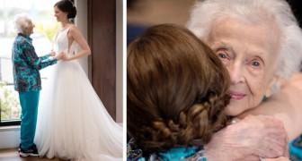 A 103 anni non può andare al matrimonio della nipote, ma la sorpresa che riceve è davvero commovente