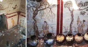 Zufällig wurde in China ein Grab entdeckt, das aus der Zeit der mittelalterlichen Tang-Dynastie stammt
