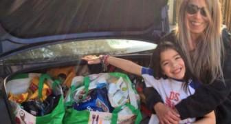 Anstelle von Geburtstagsgeschenken bat dieses kleine Mädchen um Hundefutter und spendete es an eine Tierschutzorganisation