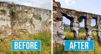 Cet artiste de rue transforme les murs urbains en parois transparentes à l'aide de peinture aérosol