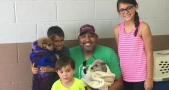 Ritrovano il cane dopo 6 anni e adottano anche l'amico che gli è rimasto accanto quando viveva in strada