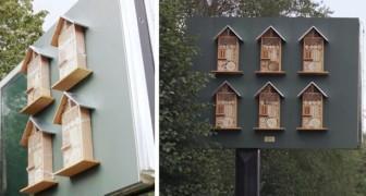In Schweden baut McDonald's Bienenhotels auf der Rückseite seiner Plakate