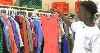 Un garçon de 13 ans a créé une garde-robe scolaire pour aider ses camarades dans le besoin