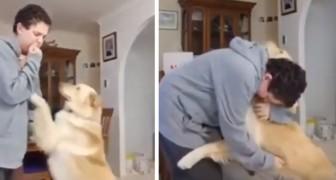 Questo bambino autistico viene calmato dal suo cane durante un attacco d'ansia
