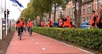 Aperta in Olanda la prima pista ciclabile realizzata con plastica riciclata: è resistente e 100% green