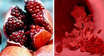 Granatapfel: die energetische Frucht, reich an Antioxidantien, die die Durchblutung verbessert