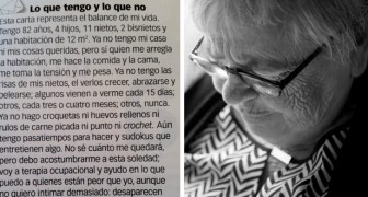 What I have and what I don't have: A grandmother sends a letter to a local newspaper revealing that she feels very alone