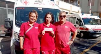 Chiede alla Croce Rossa quanto costa un'ambulanza, poi si presenta con un assegno da 50 mila euro