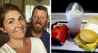 Para o aniversário de casamento o marido a leva no McDonald's, e ela explica por que se sentiu uma rainha